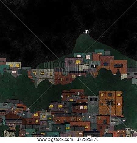 The Redeeming Christ And The Brazilian Favelas Portrayed In Art