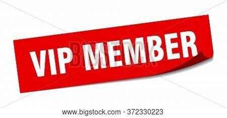 Vip Member Sticker. Vip Member Square Sign. Vip Member. Peeler