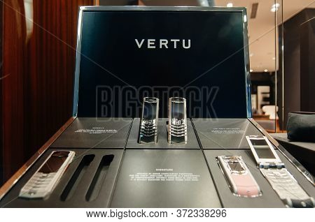 Baden-baden, Germany - May 28, 2010: Close-up View Of Luxury Vintage Vertu Ascent Collection Gold Pl