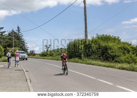 Bourgoin-jallieu, France - 07, May, 2017: The Croatian Cyclist Kristijan Durasek Of Uae Team Emirate