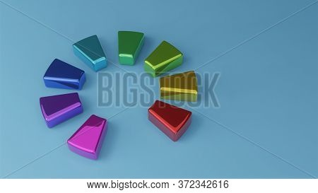 3D Business  Graph And Diagram Chart Business Concept.