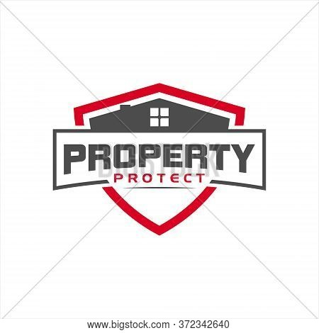 Property Guard Logo Simple Modern Home And Shield Frame For Vector Design Template