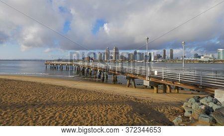 Coronado Pier In San Diego - San Diego, Usa - March 18, 2019