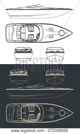 Speed Boat Drawings