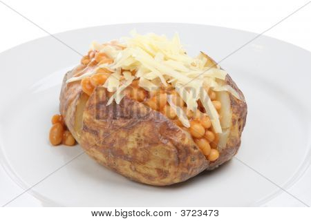 Jacket Potato With Baked Beans And Cheese
