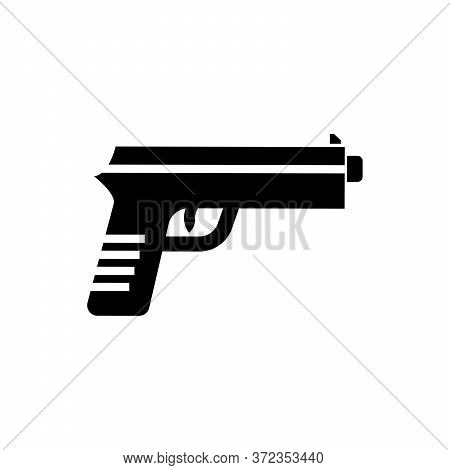 Gun Icon Vector Isolated On White Background. Gun Icon Image, Gun Icon Picture, Gun Icon App, Pistol