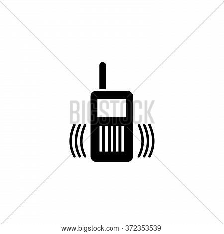 Simple Walkie Talkie Icon Isolated On White Background From Police Collection. Walkie Talkie Icon Tr