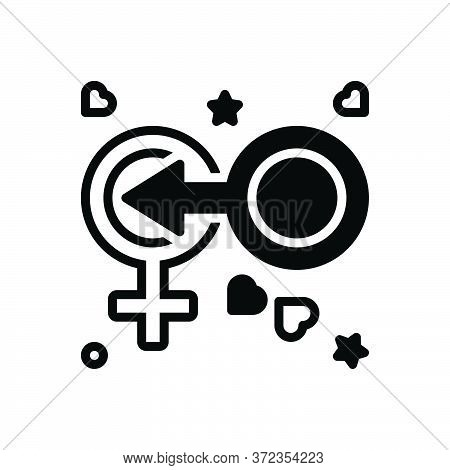 Black Solid Icon For Coitus Cohabitation Coexistence  Shape