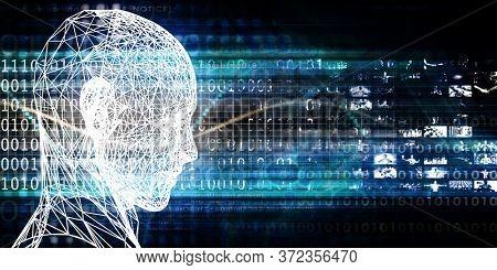Advanced Analytics with Digital Technology Business Theme Art 3d Render