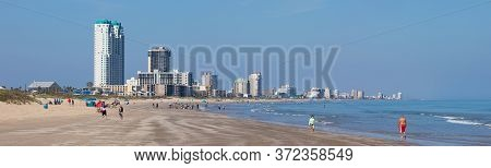 View Of The South Padre Island, On The Gulf Of Mexico, Texas, United States Of America