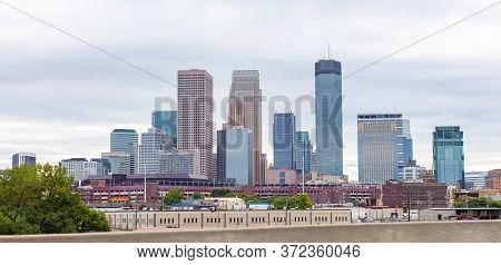 Minneapolis, City In The State Of Minnesota, United States Of America, During The Morning