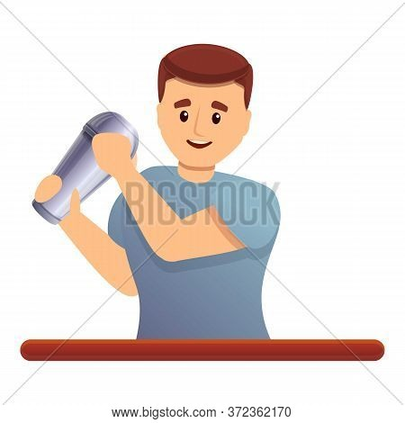 Bartender Shaker Work Icon. Cartoon Of Bartender Shaker Work Vector Icon For Web Design Isolated On
