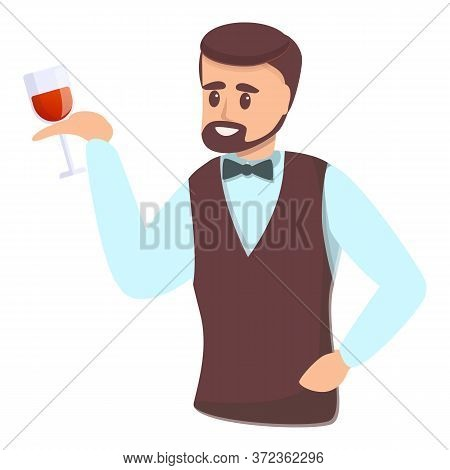 Vineyard Sommelier Icon. Cartoon Of Vineyard Sommelier Vector Icon For Web Design Isolated On White