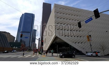 The Broad Art Museum At Los Angeles Downtown - Los Angeles, Usa - March 18, 2019