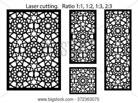 Lazer Cut Vector Panel. Cnc Decor Pattern, Jali Design, Interior Partition. Islamic, Arabic Lazer Cu