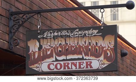 Legends Corner In Nashville - Nashville, Usa - June 17, 2019