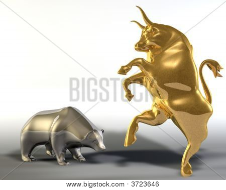 Golden Bull And Metal Bear