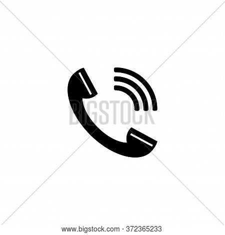 Phone Call Icon Isolated On White Background. Phone Call Icon In Trendy Design Style For Web Site An