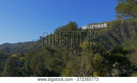 Hollywood Sign In The Hills Of Hollywood - Los Angeles, Usa - March 18, 2019