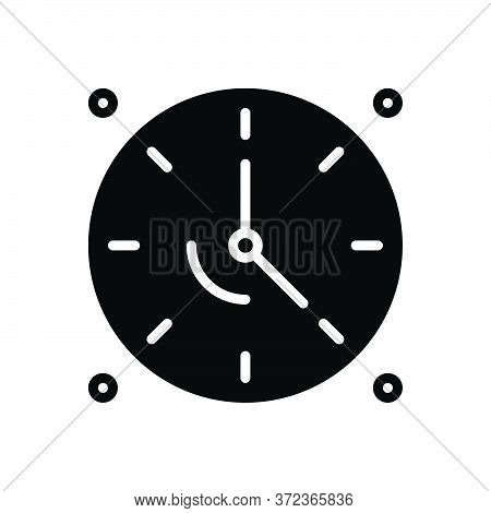Black Solid Icon For Dials Clock Time Analog Timepiece Countdown