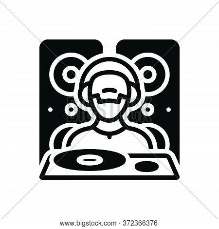 Black Solid Icon For Dejaying People Disco Music Dj Adolescent Nightclub
