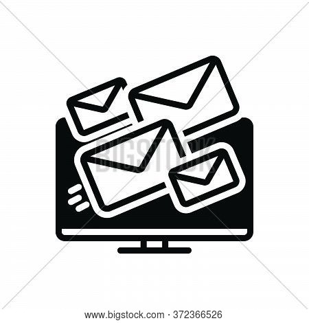Black Solid Icon For Deliverability Email Message Share Technology