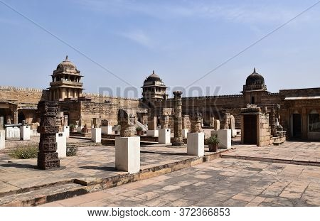 Gwalior, Madhya Pradesh/india : March 15, 2020 - 'gujari Mahal' In Gwalior Fort