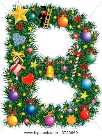 Alphabet Letter B - Christmas Decoration