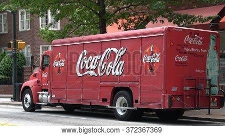 Old Coca-cola Truck In Atlanta - Atlanta, Georgia - April 22, 2016
