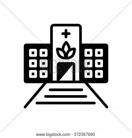 Black Solid Icon For Dispensaries Dispensary Pharmacy Ambulatory Drugstore
