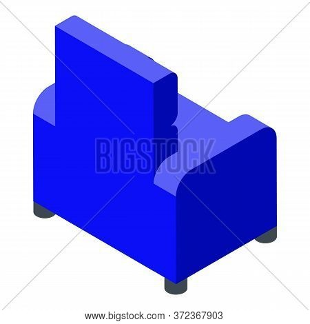 Furniture Armchair Icon. Isometric Of Furniture Armchair Vector Icon For Web Design Isolated On Whit