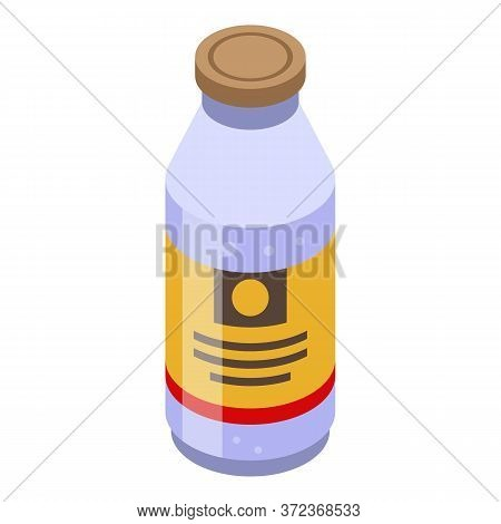 Coconut Bottle Juice Icon. Isometric Of Coconut Bottle Juice Vector Icon For Web Design Isolated On