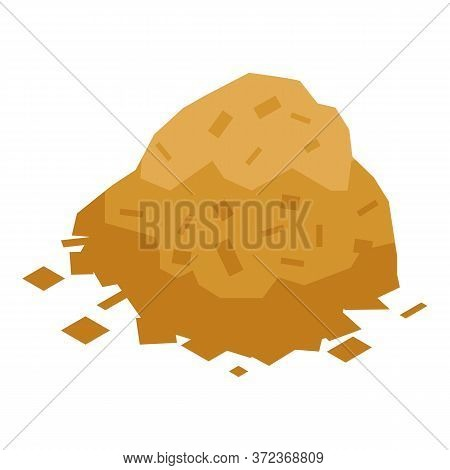 Pieces After Tree Cut Icon. Isometric Of Pieces After Tree Cut Vector Icon For Web Design Isolated O