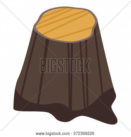 Tree Stump Icon. Isometric Of Tree Stump Vector Icon For Web Design Isolated On White Background