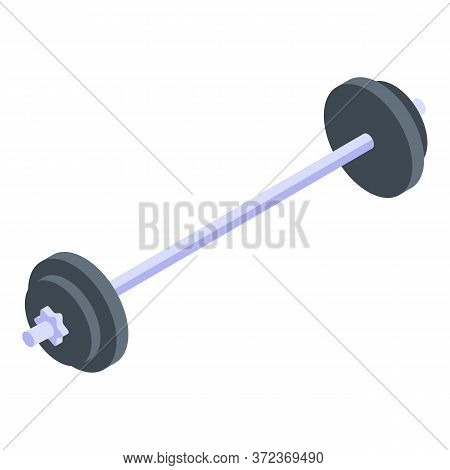 Barbell Icon. Isometric Of Barbell Vector Icon For Web Design Isolated On White Background