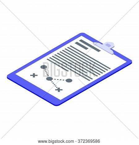 Coach Tactical Board Icon. Isometric Of Coach Tactical Board Vector Icon For Web Design Isolated On