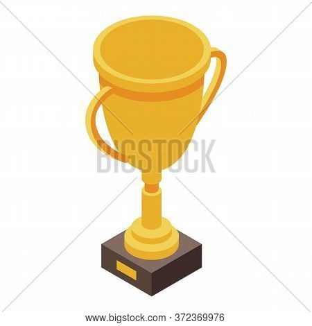 Dog Champion Cup Icon. Isometric Of Dog Champion Cup Vector Icon For Web Design Isolated On White Ba