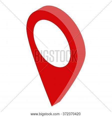 Realtor Gps Pin Map Icon. Isometric Of Realtor Gps Pin Map Vector Icon For Web Design Isolated On Wh