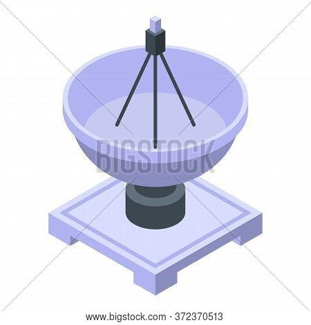 Ground Antenna Satellite Icon. Isometric Of Ground Antenna Satellite Vector Icon For Web Design Isol