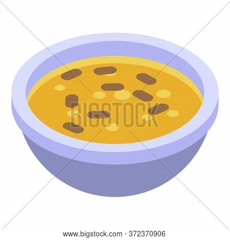 Egypt Bowl Soup Icon. Isometric Of Egypt Bowl Soup Vector Icon For Web Design Isolated On White Back