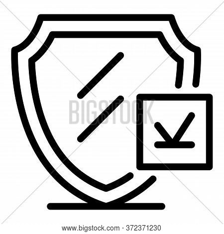 Tax Inspector Security Icon. Outline Tax Inspector Security Vector Icon For Web Design Isolated On W