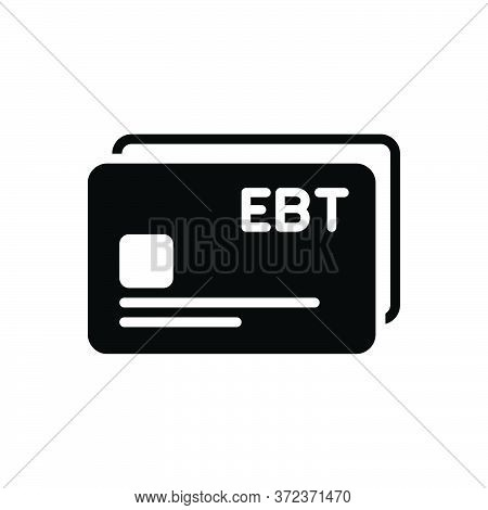 Black Solid Icon For Ebt Card E-payment Transfer Digital