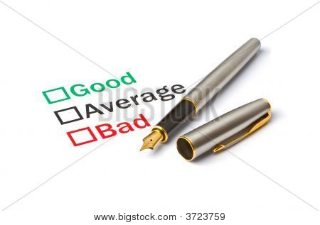 Good, Bad Or Average