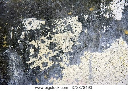 Old Wall Background With Peeling Plaster