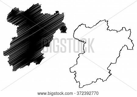Capellen Canton (grand Duchy Of Luxembourg, Administrative Divisions) Map Vector Illustration, Scrib