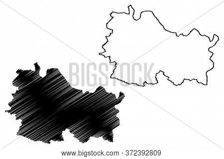 Echternach Canton (grand Duchy Of Luxembourg, Administrative Divisions) Map Vector Illustration, Scr