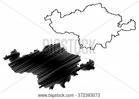 Esch-sur-alzette Canton (grand Duchy Of Luxembourg, Administrative Divisions) Map Vector Illustratio