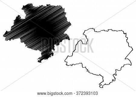 Luxembourg Canton (grand Duchy Of Luxembourg, Administrative Divisions) Map Vector Illustration, Scr