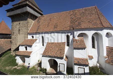 Viscri, Romania - April 29, 2018: Viscri, Fortified Town In A Sunny Day