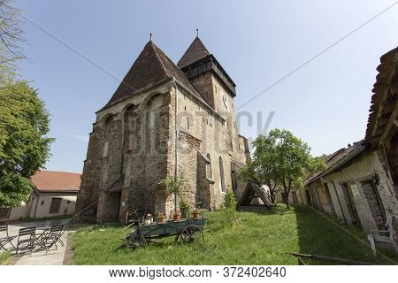 Valea Viilor, Romania - May 01, 2018: A Famous Fortified Church In Romania